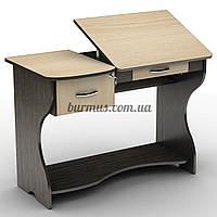 Компактный регулируемый по уклону компьютерный стол , СУ-5 , венге магия+ дуб молочный