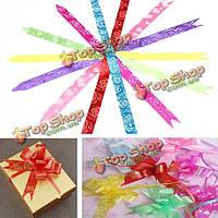 10шт партия свадебный подарок украшение цветок обертывание тянуть лук ленты