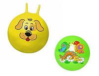 Мяч для фитнеса с рожками MS 0483 45 см  IKD