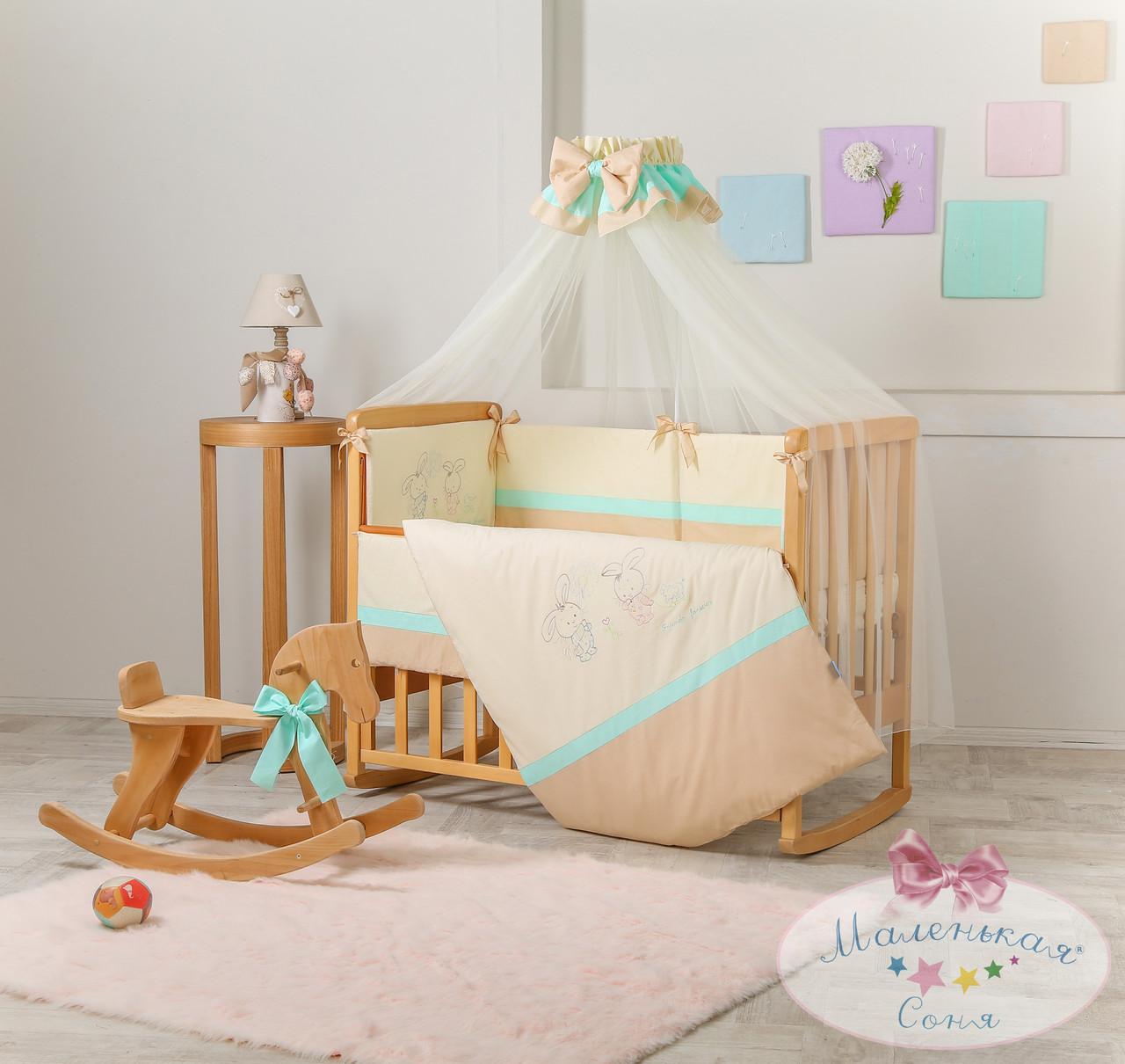 Детский постельный комплект Funny Bunny (Шоколадный, 7 элементов), Маленькая Соня