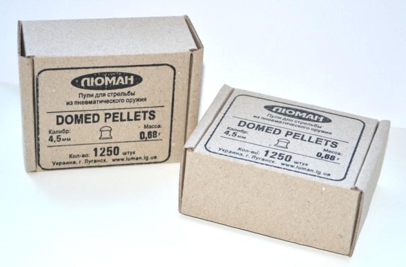 Пули Люман Domed pellets, 0,68 г. по 1250 шт.