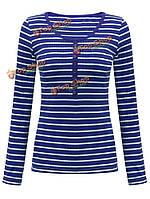Женщины Газа вязать тонкие верхние части 4 цвета трикотажных изделий пуловер футболку