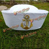 Унисекс белый матрос корабля капитан военно-морского флота морской шлем мореходное костюмированный косплей крышка