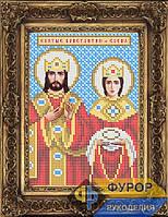 Схема иконы для вышивки бисером - Святые Константин и Елена, Арт. ИБ5-127-1