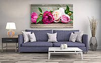 Картина над диваном цветы