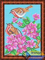 Схема для вышивки бисером - Птички на цветущей ветке, Арт. ЖБп4-41