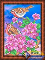 Схема для вышивки бисером - Птички на цветущей ветке, Арт. ЖБч4-042