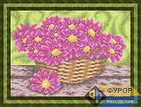 Схема для вышивки бисером - Астры в корзине, Арт. НБп4-082-2