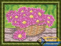 Схема для вышивки бисером - Астры в корзине, Арт. НБч4-83-2