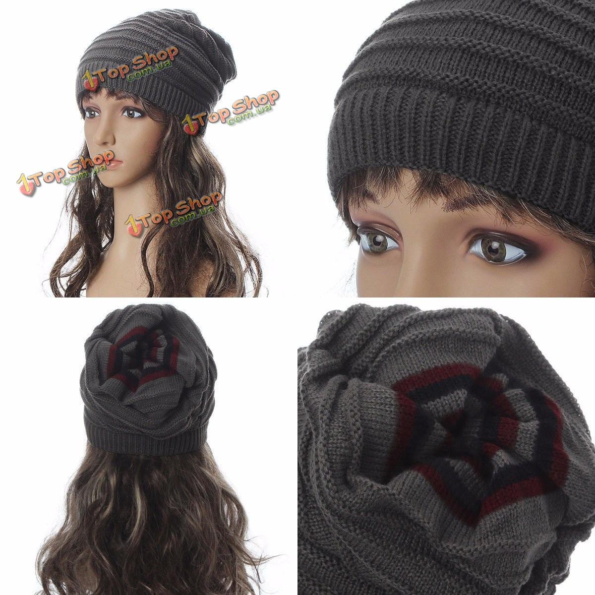 мужские женские вязание зимних череп лыжная шапочка шапка вязание