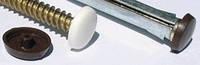 Заглушка на рамный анкер (белая, корричневая, св-коричневая, серая 100 шт уп.)