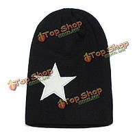 Мужчины женщин теплые зимние звезды хип-поп шапки шапочки вязаные лыжные шапки