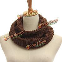 Мужчины женщины вязаная труба крючком обернуть снуд снуд шаль круг шеи шарф