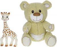 Подарочный набор - игрушки Vulli <<Мишка Габби и жирафик Софи>> 850516