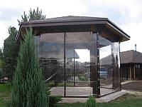 Прозрачное покрытие для  летних площадок, террас, беседок и других конструкций