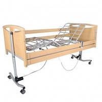 """Кровать деревянная с электромотором """"French Bed"""" на колесах, с перилами и гусем, регулируемая высота 26-66см,"""
