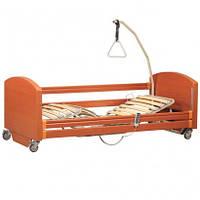 """Кровать с электромотором """"Sofia Economy"""" на колесах, с перилами и гусем, регулируемая высота 30-70см, металлич"""