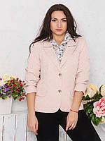 Классический женский жакет свободного кроя с длинным рукавом Modniy Oazis розовый 9061, фото 1