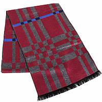 Яркий мужской шерстяной двухсторонний шарф 183 на 30 см ETERNO (ЭТЕРНО) ES2107-3 красный