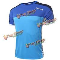Мужская повседневная футболки сшивки с коротким рукавом футболки спортивные поло топ тройники