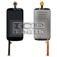 Дисплей для мобильных телефонов ZTE Grand X, Grand X IN, Mimosa X, V970, черный, с сенсорным экраном