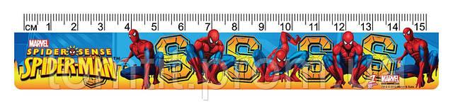 """Линейка пластиковая """"Spider-Man"""" (""""Человек-Паук""""), 15 см"""