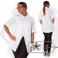 Рубашка женская белая батал 855 НС