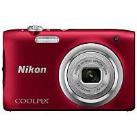 Цифровая фотокамера Nikon Coolpix A100 Red (VNA972E1) (официальная гарантия)