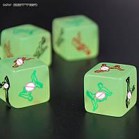 Светящиеся кубики с позами для секса