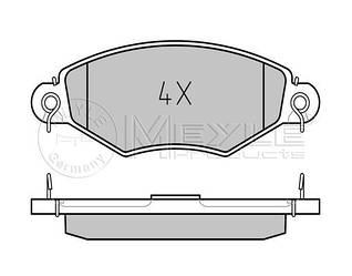 Дискові гальмівні колодки передні на Renault Kangoo 1998->2008 — т колодок гальмівних передніх (Німеччина) - 0252198018