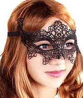 Кружевная маска для сна, для игр, для фотосетов, маска черная. Розница, опт. Украина., фото 1