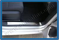 Накладки на пороги (на пластик) VW Golf 6 Omsa Line