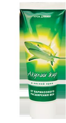 Акулий жир и лесной орех Крем от варикозного расширения вен и тромбофлебита