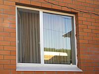 Поворотно-откидное двухчастное окно VIGRAND 4 кам 1300*1400, фото 1