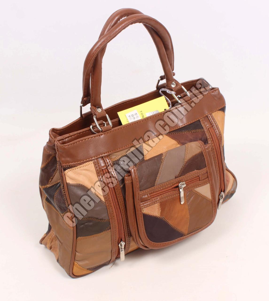 Женская сумочка кожаная из кусочков Tongle 5828