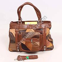 Женская сумочка кожаная из кусочков Tongle 5828, фото 2