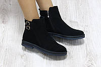 Ботиночки замшевые с застежками демисезонные