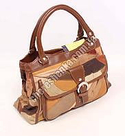 Женская сумочка кожаная из кусочков Tongle B-149