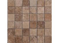 """Мозаика облицовочная полированая плит 4,8 см х 4,8 см из вьетнамского травертина  """"TOSCANA"""" KLVIV"""