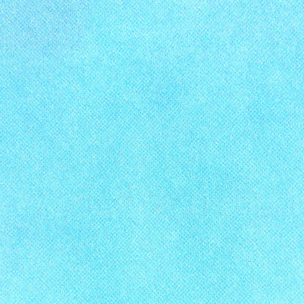 Глиттер 0.6 мм с клеевым слоем, Корея, НЕБЕСНЫЙ, 20х30 см