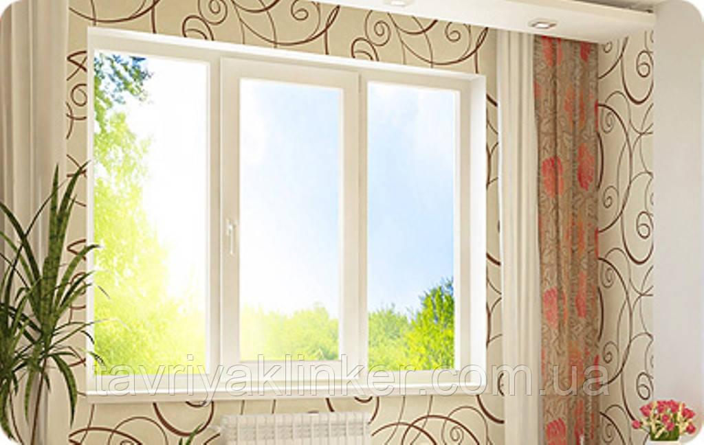 Поворотно-откидное трехчастное окно VIGRAND 4 кам 2100*1400
