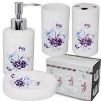 Набор аксессуаров для ванной комнаты 'Синий букет' Snt 888-110
