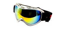 Серебристые очки лыжные POLIZIA