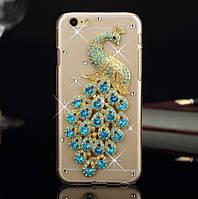 Чехол на iphone 6 павлин с камнями, стразами