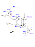 Втулка стабилизатора подвески на Hyundai Santa Fe.Код:54813-2W100