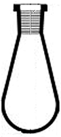 Колбы грушевидные со шлифом BORO 3.3, TC