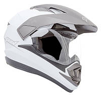 Шлем GEON 714 Дуал-спорт Trek White, фото 1