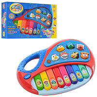 Пианино MP 4087 /2216 A 11, 25-17-5см, музыка, звуки животных, свет, на бат-ке, в кор-ке, 26,5-17,5-6см