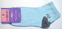 Носки цветные с рисунком голубого цвета в котики, фото 1