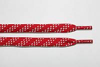 Шнурки 7мм. красный+белый